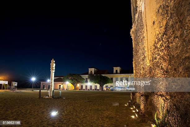 Pillory at Matriz Square Alcantara Maranhao State northeastern Brazil the place where criminals were exhibited and punished is one of Alcantara main...