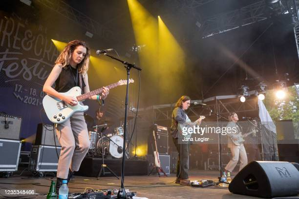 September 18: Pillow Queens perform live on stage during day 2 of Pure & Crafted Festival in Berlin on September 18, 2021 in Berlin, Germany.