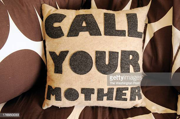 A pillow that is offered for sale by Dormify is seen at the offices of Dormify and Hirshorn Zuckerman Design Group Inc on Monday August 8 2011 in...