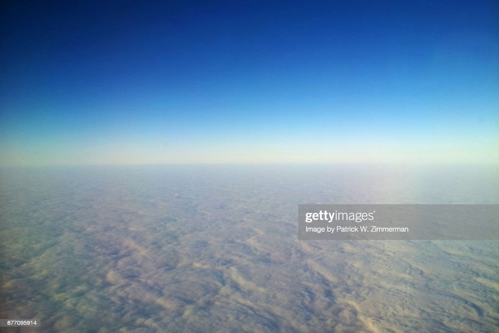 Pillowed Earth Curvature From The Air Stratocumulus Clouds Stock