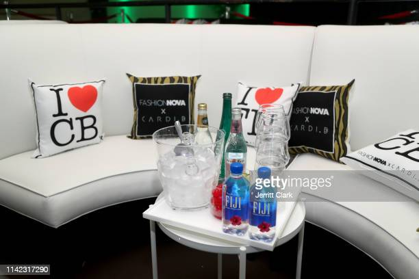 Pillows and drinks are seen is seen as Fashion Nova Presents Party With Cardi at Hollywood Palladium on May 8 2019 in Los Angeles California