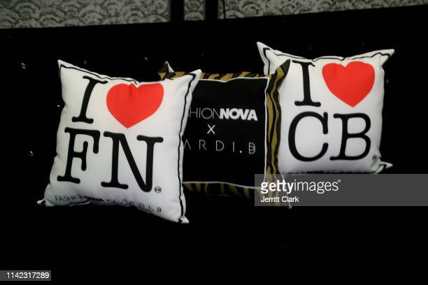 Pillows are seen as Fashion Nova Presents Party With Cardi at Hollywood Palladium on May 8 2019 in Los Angeles California