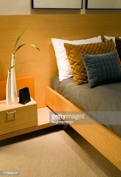 pillows headboard bed hotel