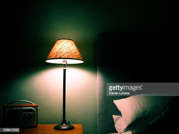 pillows, lamp and radio - lamp stock photos and pictures
