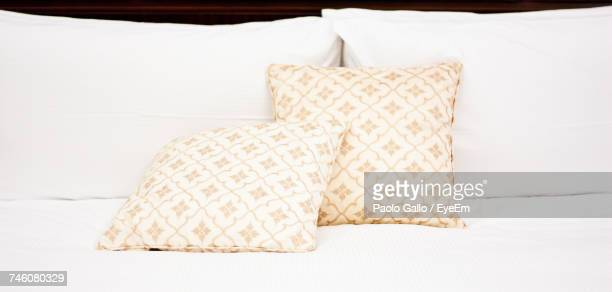 Pillows On Bed At Home