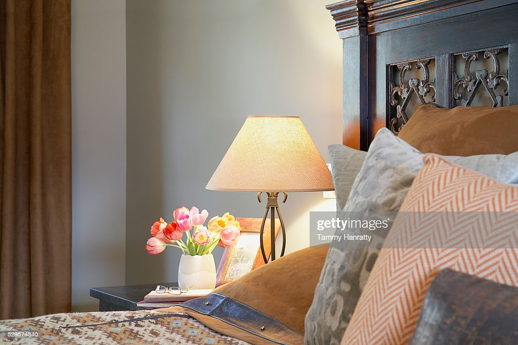 Pillows on bed : Stockfoto