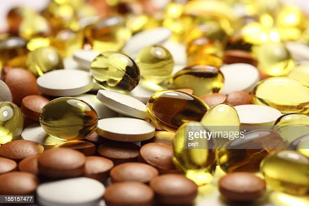 Pills, Capsules and tablets full frame