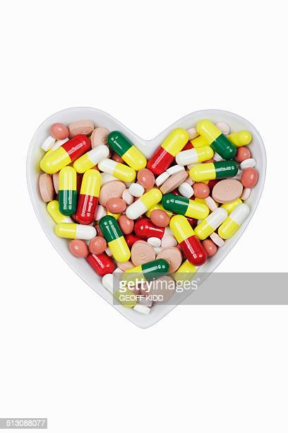 Pills in a dish