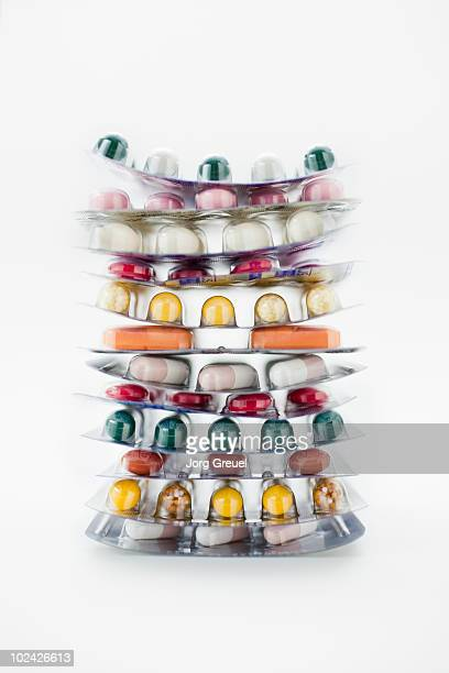 pills in blister packs - blister pack stock pictures, royalty-free photos & images