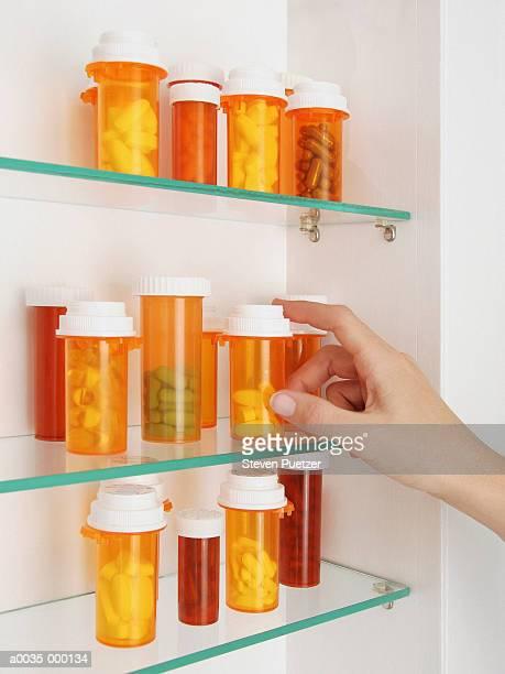 Pills in Medicine Cabinet