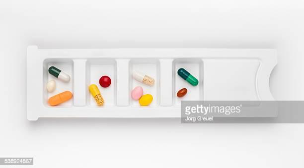 Pills in organizer