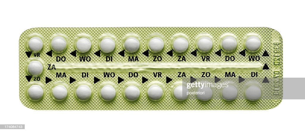 pills in strip : Stock Photo