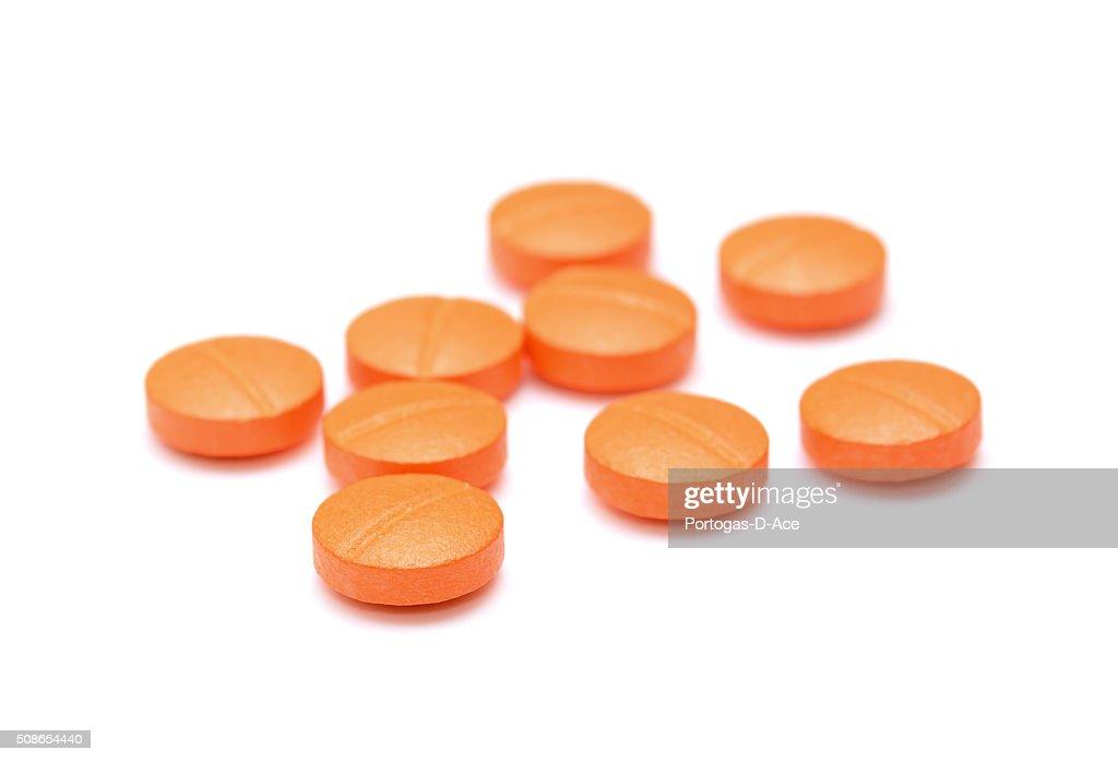 pills isolated on white background : Stock Photo