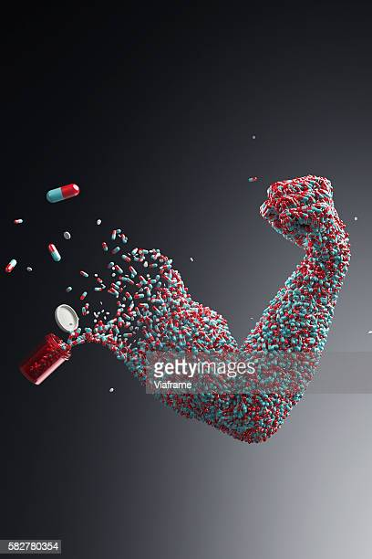 Pills shaping muscle arm