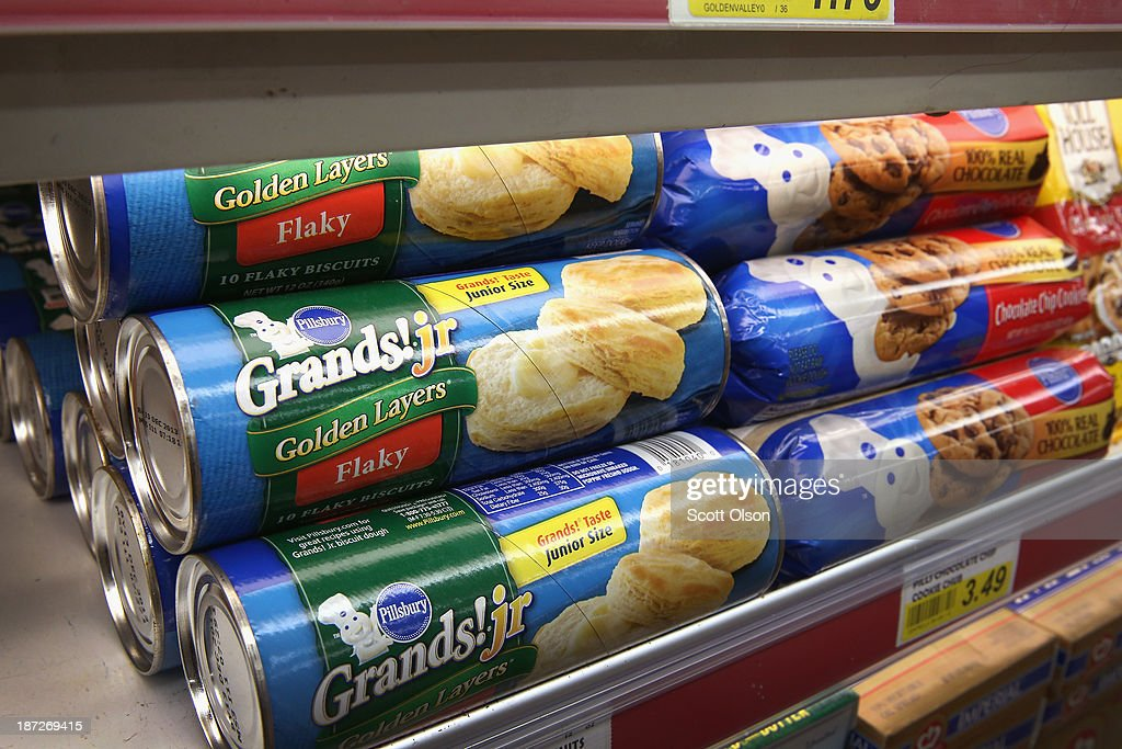 Pillsbury ready-to-bake items, which contains trans fat, are displayed at a grocery store on November 7, 2013 in Chicago, Illinois. The U.S. Food and Drug Administration today proposed a rule change that would eliminate trans fat from all processed foods.