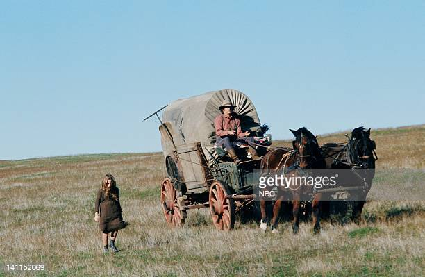 PRAIRIE 'Pilot' Aired Pictured Melissa Gilbert as Laura Elizabeth Ingalls Wilder Michael Landon as Charles Philip Ingalls Photo by NBCU Photo Bank