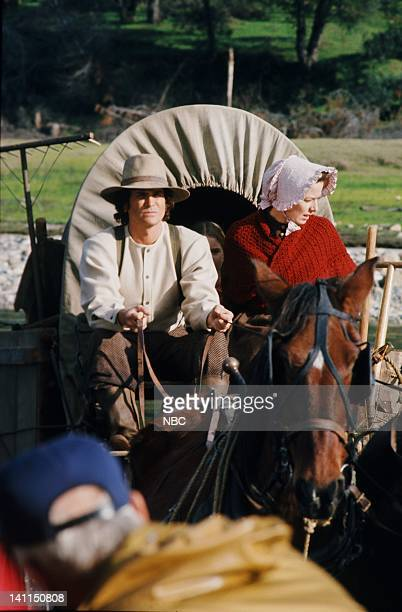 PRAIRIE Pilot Aired Pictured Michael Landon as Charles Philip Ingalls Karen Grassle as Caroline Quiner Holbrook Ingalls Photo by NBCU Photo Bank