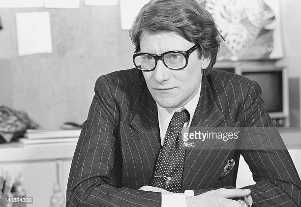 NOW Pilot Aired Pictured Fashion designer Yves St Laurent at his couture workshop Photo by NBCU Photo Bank