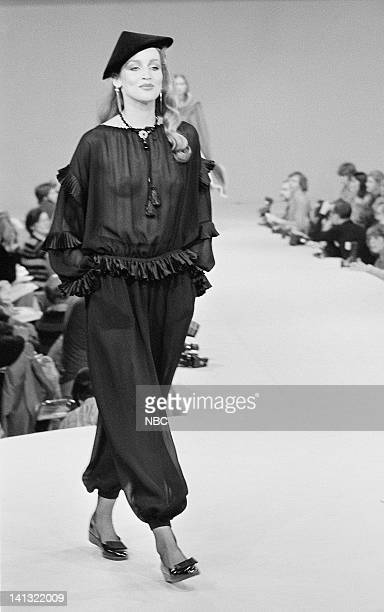 NOW 'Pilot' Aired Pictured Models wearing the new fall collection of fashion designer Yves Saint Laurent Photo by NBCU Photo Bank