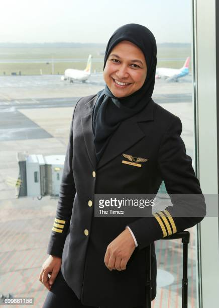 SAA pilot and senior first officer Fatima Jakoet poses for a portrait during an interview on June 19 2017 in Cape Town South Africa In 2015 Jakoet...
