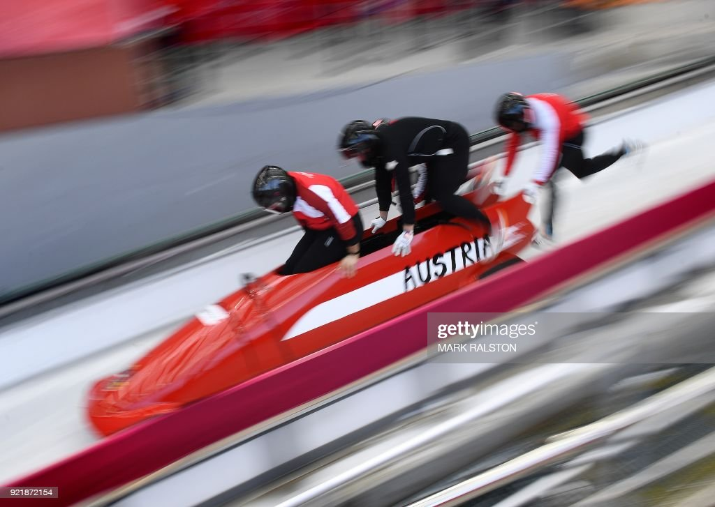 BOBSLEIGH-OLY-2018-PYEONGCHANG-TRAINING : News Photo