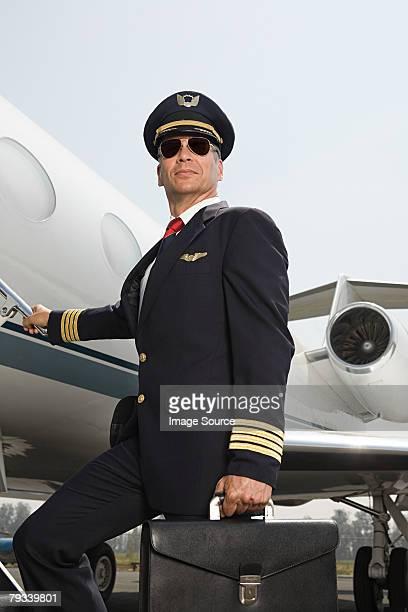 boarding Flugzeug Pilot