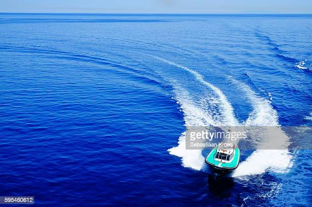 Pilot Boat of the Port of Bastia, Blue Waters, Corsica, France