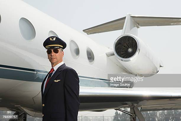 Pilot by private airplane