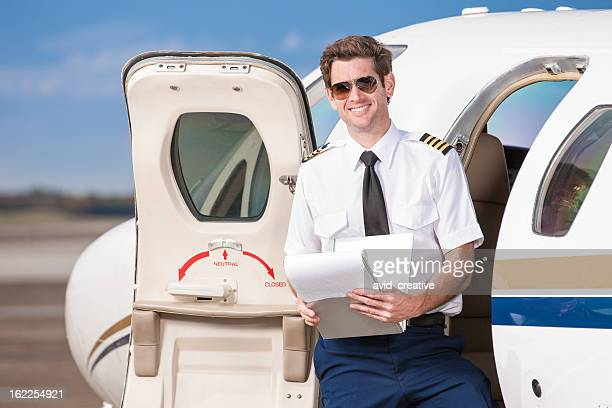 Pilot by Private Corporate Jet