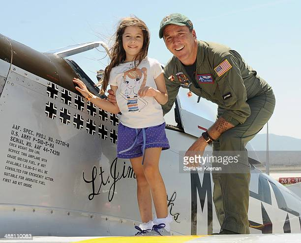 Pilot Dan Friedkin and Ella Whitesell attend The Horsemen Flight Team Event Hosted By Dan Friedkin And Lauren Sanchez Whitesell sponsored by...