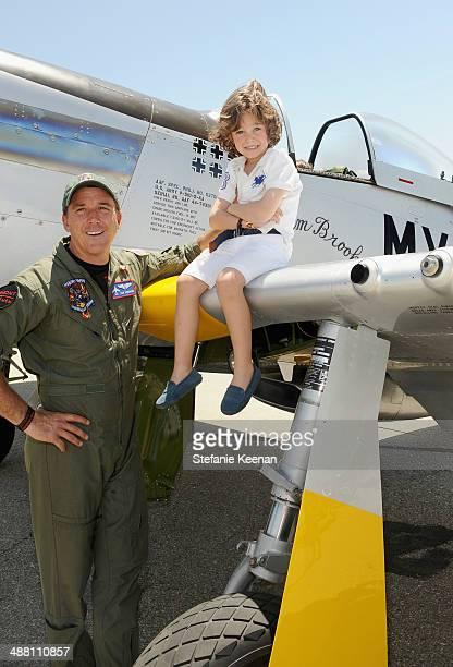 Pilot Dan Friedkin and Lucas Bacardi Shriftman attend The Horsemen Flight Team Event Hosted By Dan Friedkin And Lauren Sanchez Whitesell sponsored by...