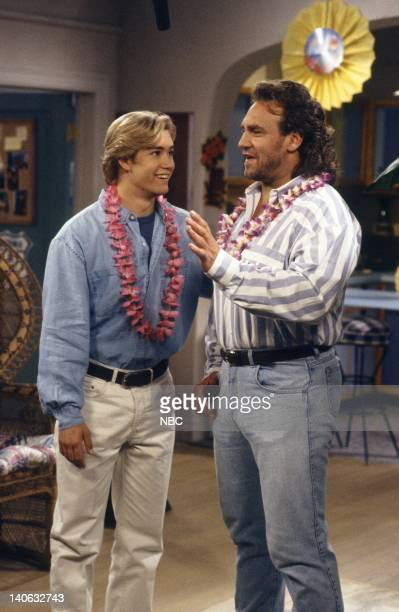 YEARS 'Pilot' Episode 1 AIr Date Pictured MarkPaul Gosselaar as Zack Morris Bob Golic as Michael Rogers Photo by Paul Drinkwater/NBCU Photo Bank