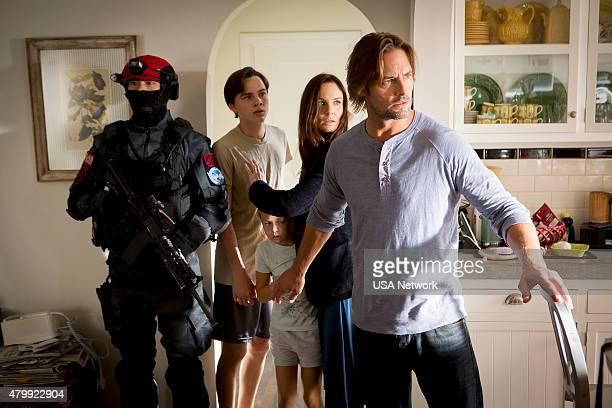 "Pilot"" Episode 101 -- Pictured: Alex Neustaedter as Bram Bowman, Isabella Crovetti-Cramp as Grace Sullivan, Sarah Wayne Callies as Katie Bowman, Josh..."