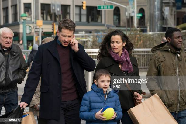 MANIFEST Pilot Episode 101 Pictured Josh Dallas as Ben Stone Jack Messina as Cal Stone Athena Karkanis as Grace Stone