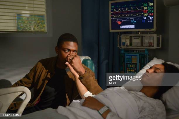 """Pilot"""" Episode 101 -- Pictured: Justin Cornwell as Damien Asante, Angela Palmer as Sally --"""