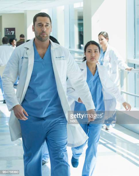 NEW AMSTERDAM 'Pilot' Episode 101 Pictured Ryan Eggold as Dr Max Goodwin Christine Chang as Agnes Kao