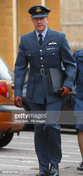 Pilot from the Red Arrows display team, Squadron Leader Ben Murphy, arrives at Bournemouth Coroner's Court for the inquest into the death of...