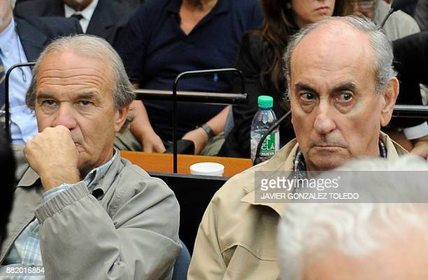 Pilot Georges Mario Daniel Arru and Carlos Octavio Capdevilla nicknamed 'Tommy' are seen during their sentencing hearing in Buenos Aires on November...