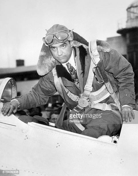 Pilot Howard Hughes in Airplane Cockpit