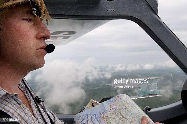 Pilot In An Aeroplane Sweden.