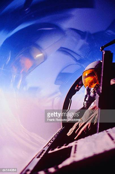 pilot in cockpit - air force stock pictures, royalty-free photos & images