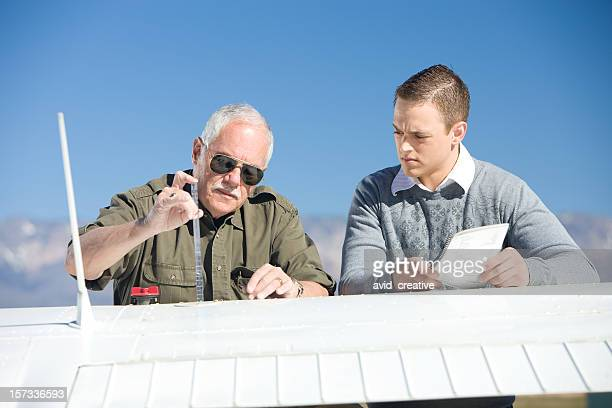 Pilot Instructor Teaching Student
