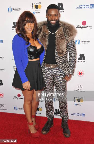 Pilot Jones and Briana Latrise attends Ebony Magazine's 'Ebony's Power 100 Gala' at The Beverly Hilton Hotel on November 30 2018 in Beverly Hills...