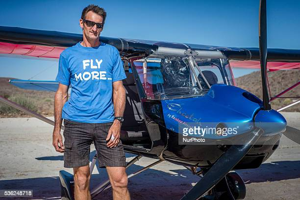 Pilot Matthias Rottcher near his plane at Flyin competitions on Saturday May 28 in Uis Namibia Sixteen aircraft took part in the competitions over...