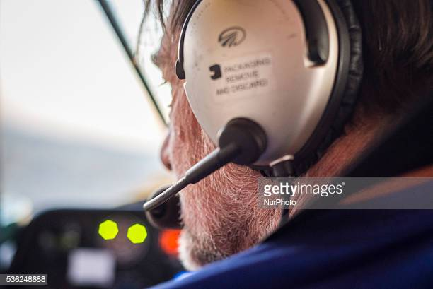 Pilot Nico Louw in a cockpit of his plane during a flight at the Flyin competitions on Saturday May 28 in Uis Namibia Sixteen aircraft took part in...