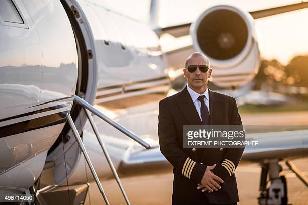 private jet-Flugzeug Pilot