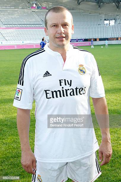 Pilot Olivier Panis attends the Football match for the benefit of the association 'Plus fort la vie' at Stade Jean Bouin on June 9 2014 in Paris...