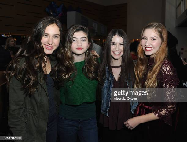 Pilot PaisleyRose Samantha Gangal Britten Healy and Jamie Timmons arrive for Hunter Payton And The Shoe Crew Holiday Charity Fundraiser Screening of...