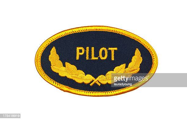pilot patch - us military emblems stock pictures, royalty-free photos & images