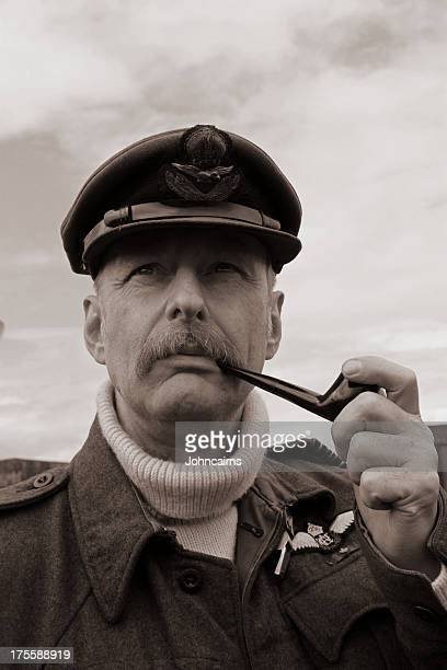 raf pilot. - battle of britain stock pictures, royalty-free photos & images